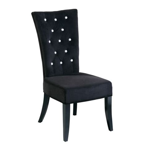 radiance black velvet dining chair 5287 furniture in