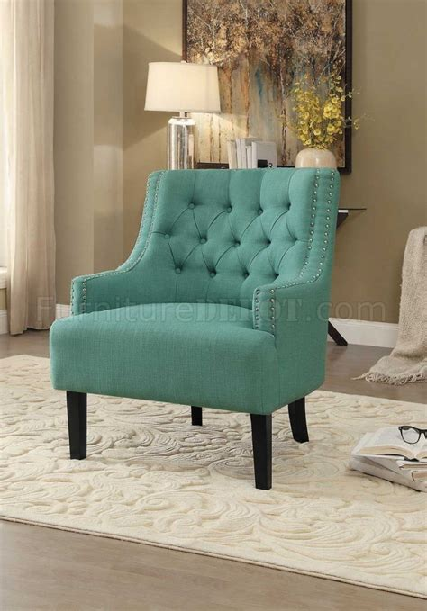 charisma accent chair tl  teal fabric  homelegance