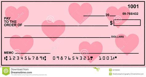 imagenes de cheques en blanco blank personal check with hearts stock photo image 50193262