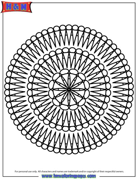 advanced mandala coloring pages printable advanced mandala 54 coloring page free printable