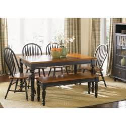 Country Dining Room Tables country black rectangle leg dining table dining tables at hayneedle