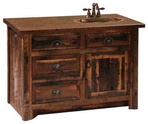 3 Foot Bathroom Vanity Barnwood 3 Foot Vanity With Barnwood Legs Sink Right