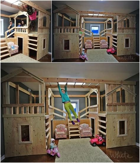 Room With Bunk Beds 10 Cool Diy Bunk Bed Ideas For 7 Ideoita Kotiin Pinterest Bunk Bed Room And Bedrooms