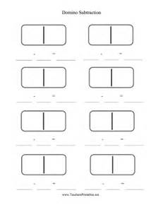 domino subtraction worksheet blank