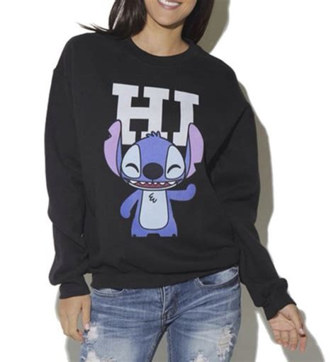 Sweater Rajut Lilo Stitch sweater lilo and stitch disney graphic