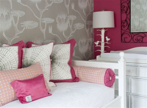 raspberry bedroom accessories chic raspberry and gray nursery project nursery