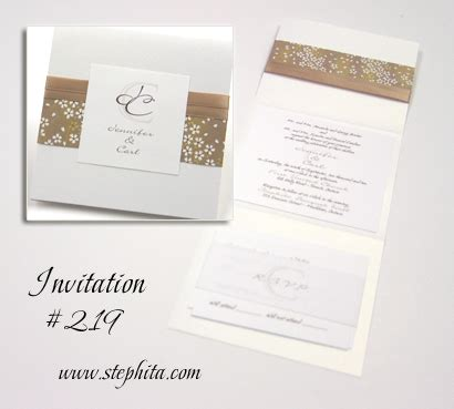 stephita wedding invitations wedding invitation 219 white pearl