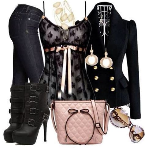 Annabel Coffey Hill shirt pink ribbon lace black lace bow jacket bag