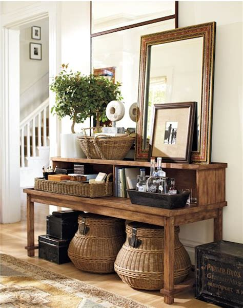 Ideas For Console Table With Baskets Design Creative Juices Decor How To Make Your Home Character With Console Table Vignettes