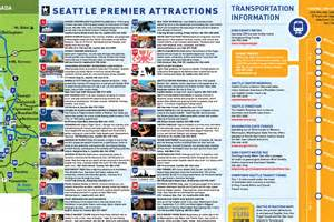 Seattle Attractions Map by Seattle Tourist Attractions Map For Pinterest