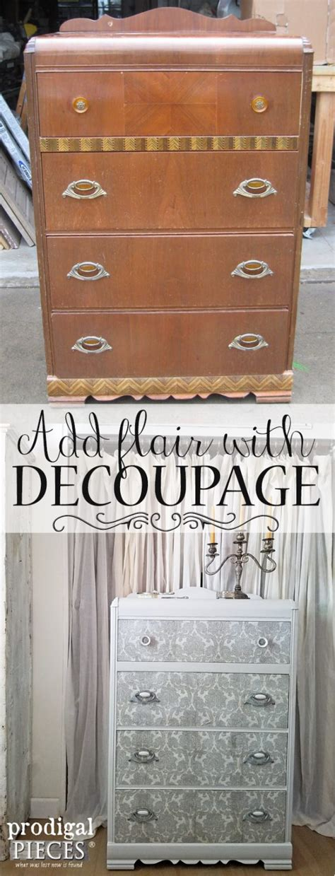 Decoupage Furniture Diy - decoupage dresser by prodigal pieces homeright