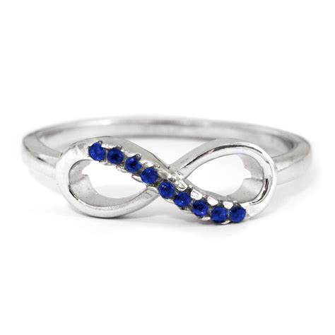 infinity sapphire cz promise ring s addiction 174