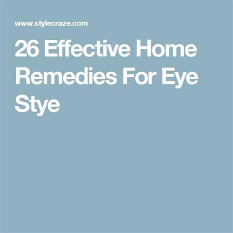 1000 ideas about stye remedy on remedies