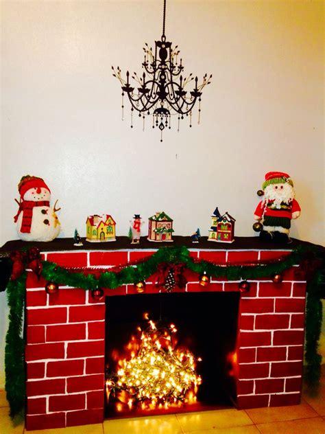 chimenea de navidad cardboard fireplace chimenea de carton christmas ideas