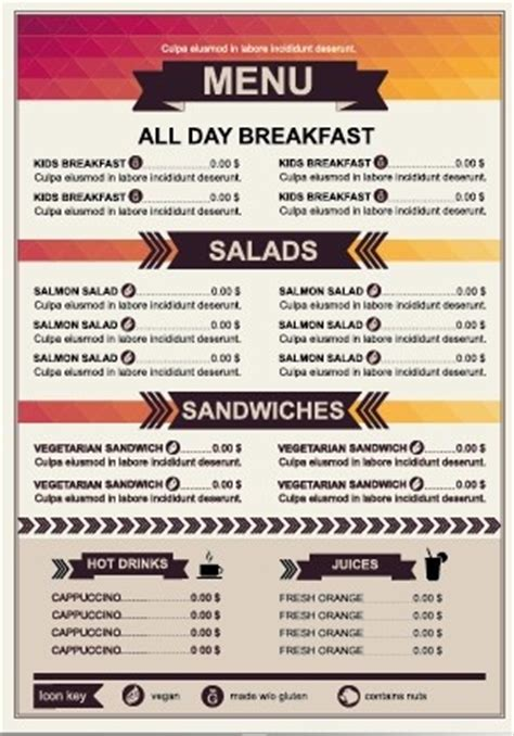 Restaurant Menu Price List Template Vector Free Vector In Encapsulated Postscript Eps Eps Price Menu Template