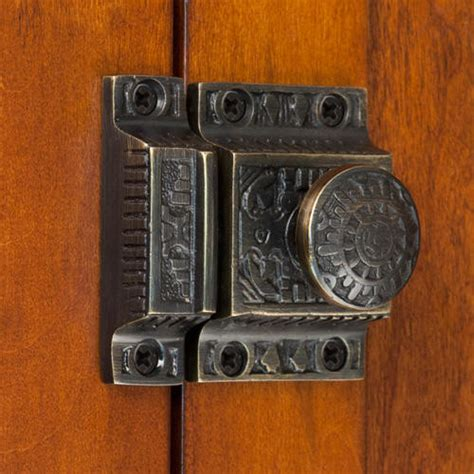antique kitchen cabinet latches solid brass cabinet latch with knob hardware