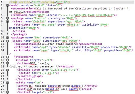 xml state machine qm qm model file