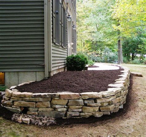 stone bed 25 best ideas about stone landscaping on pinterest