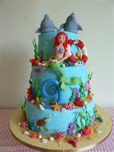 Cake and some examples are the ariel image cake and ariel doll cake