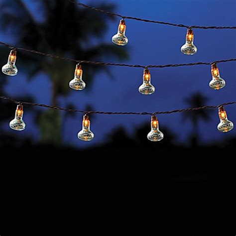 Patio String Lights Clearance Outdoor 10 Bulb String Lights In Clear Bed Bath Beyond