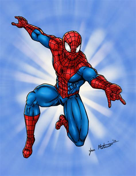 spiderman swinging spider man swinging at you by jmaturino on deviantart