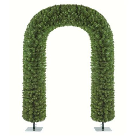 7 6ft artificial christmas tree arch with stand