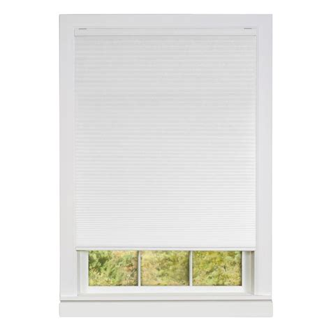 l shades achim honeycomb white cellular cordless polyester pleated shade 31 in w x 64 in l csco31wh06