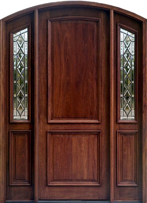 Mahogany Front Door With Glass mahogany arch radius style wood door ebay