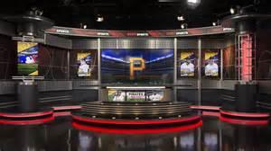 tv sports set desk design by park place studio