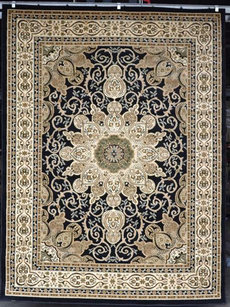 Large Black Area Rug Burgundy Green Beige Black Isfahan Area Rug Carpet Large New 2001 Ebay