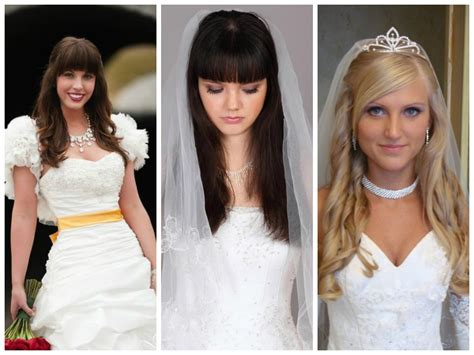 Wedding Hairstyles With Front Bangs by Popular Wedding Hairstyles With Bangs Hairstyles