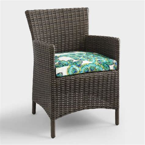 World Market Dining Room Chair Cushions Gusset Aqua Peacock Outdoor Chair Cushion World Market