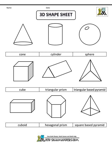 Solid geometric shapes and names images amp pictures becuo