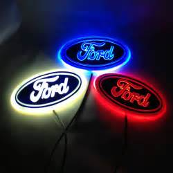 white out ford emblem