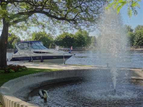 boat launch rideau river centennial park in smiths falls on canal the rideau