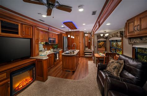 Motor Home Interior by Lifestyle Luxury Rv Introduces Wide Design For All