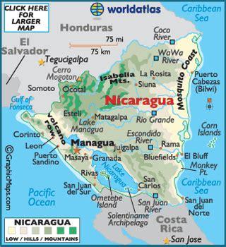 san jose nicaragua map nicaragua map geography of nicaragua map of nicaragua