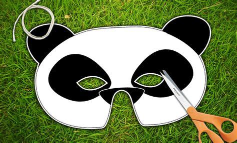 printable panda mask template panda bear printable mask panda bear halloween by therasilisk