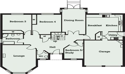 5 bedroom plan 5 bedroom bungalow in ghana 5 bedroom bungalow floor plans