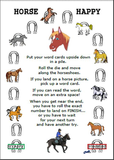 printable horse games new activities puzzled