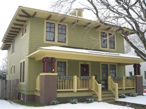 house colors four over one design 93 best images about american foursquare homes on