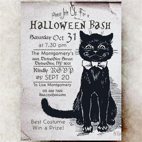 diy printable halloween invitations halloween invitation black cat printable invite diy 5x7