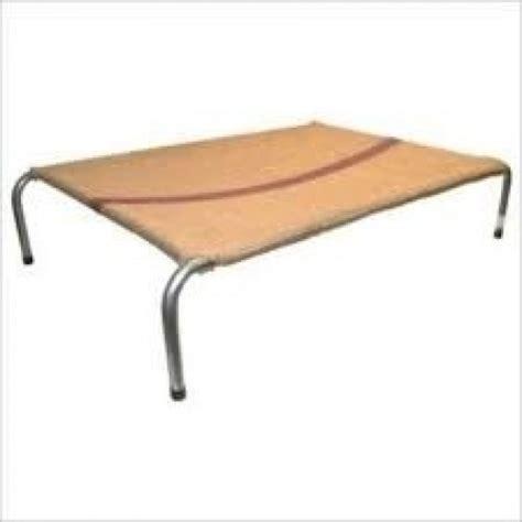 metal frame dog bed steel frame dog bed x l hessian cover