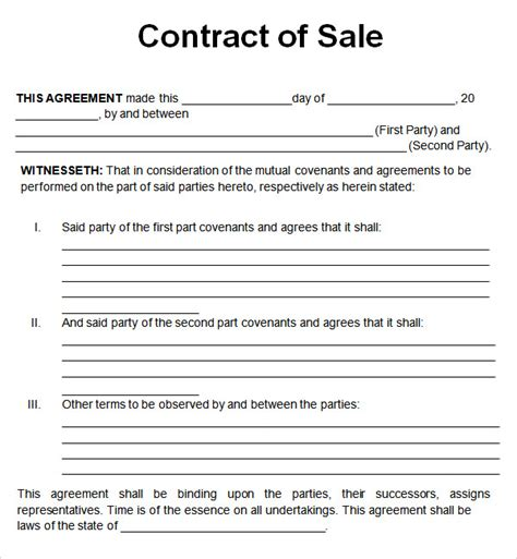 free business sale contract template car sales contract and agreement template exles vlcpeque
