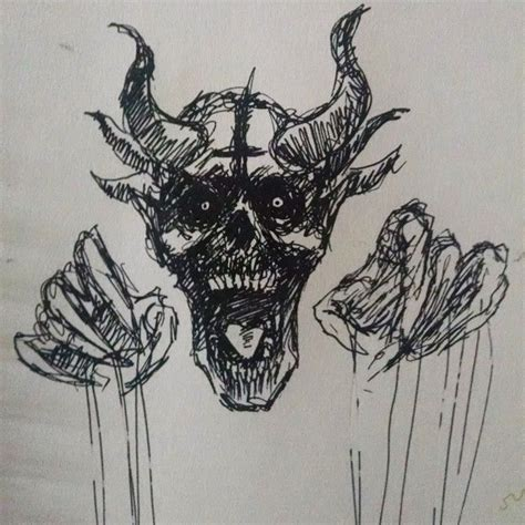 doodle demons 10 images about desenhos on horns sweet