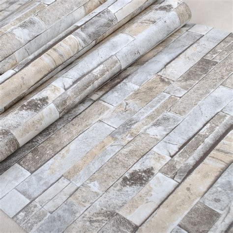 Wallpaper Dinding Vinyl Batu Bata Abu Abu Ro Dv1170 buy grosir batu dan batu bata rumah from china batu