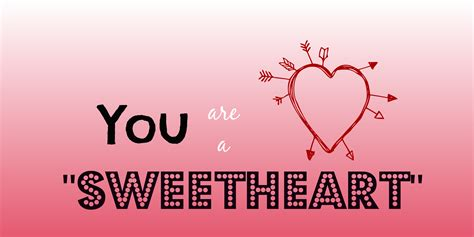 valentines sweetheart quot you are a sweetheart quot s day card idea