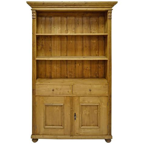 Bookcases With Doors And Drawers Pine Bookcase With Two Doors And Two Drawers For Sale At 1stdibs