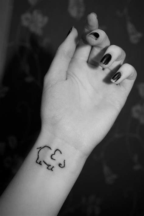 elephant outline tattoo elephant outline wrist tattoo best tattoo ideas designs