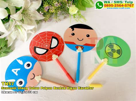Kipas Bentuk Ac Karakter souvenir ulang tahun tempat makan karakter bahan plastik
